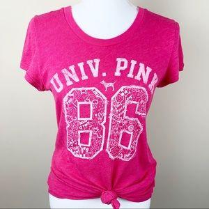 Pink Victoria's Secret tee